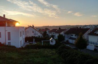 Vue depuis ma chambre, chez ma famille allemande