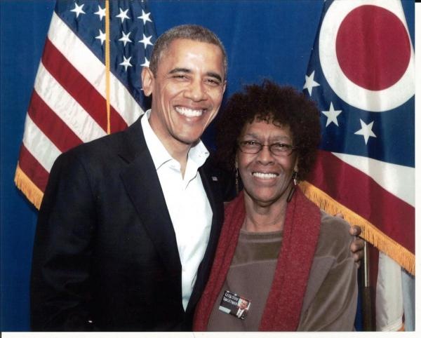 Our Chair Beverly McCoy with the President | Allen County ...