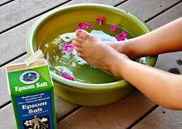 epsom salt footbath