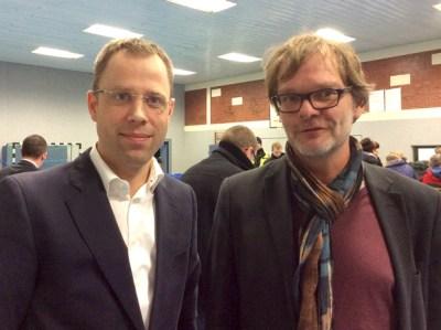 Senator Czaja und Herr Hermanns – der zukünftige Leiter der Flüchtlingsunterkunft