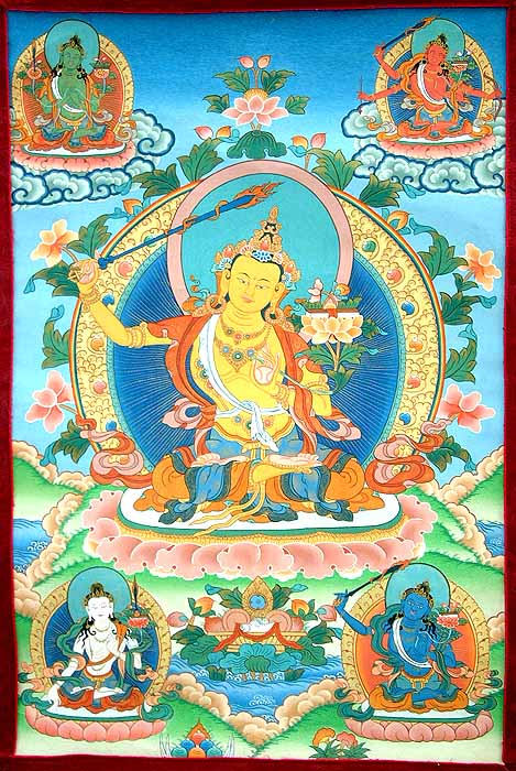 Five forms of Manjushri