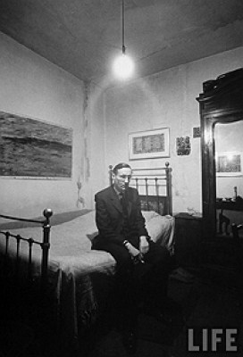 Loomis Dean, William Burroughs on Bed at Beat Hotel, 1959