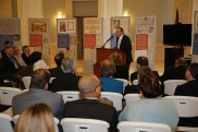 Speaking at the Magna Carta Exhibit in the Rotunda of the Alabama Supreme Court