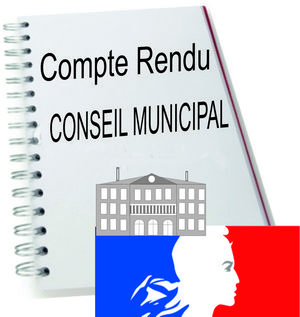 Procès verbal conseil municipal