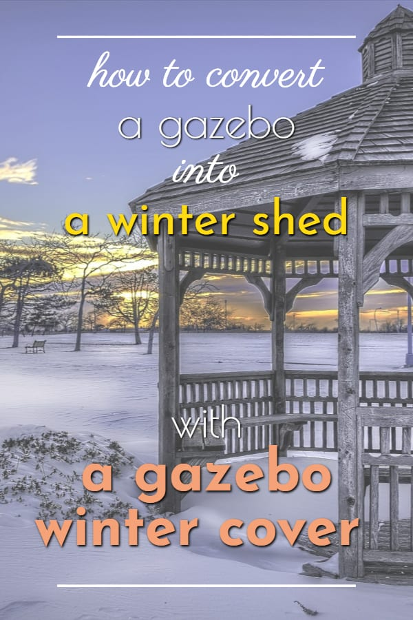 gazebo winter cover for winter shed