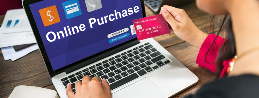 image of oonline shopper for website credibility article