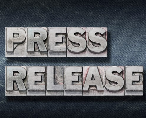 Press Release word sign for header image