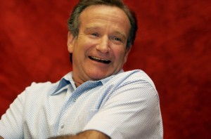 Robin Williams red background