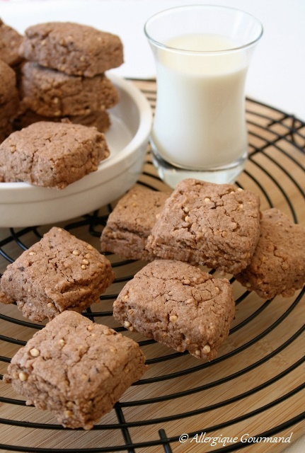 Sablés chocolat-quinoa soufflé