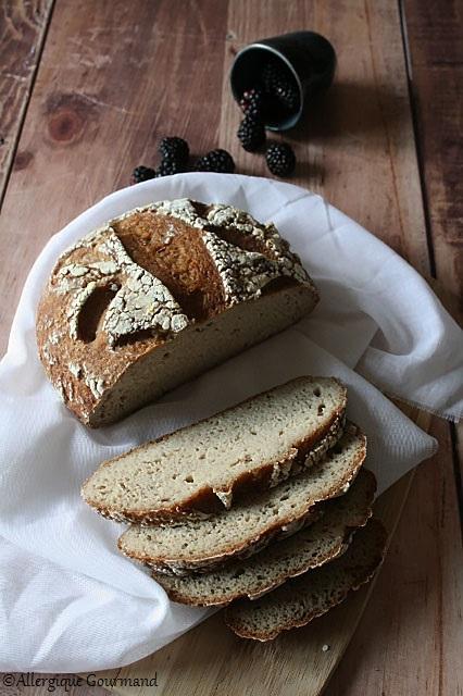 pain quinoa coco au levain sans gluten