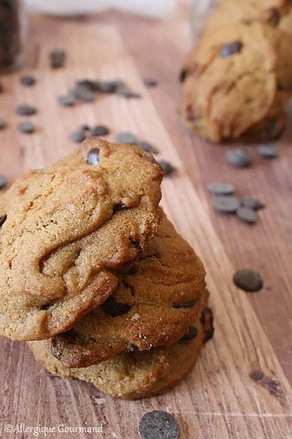 cookies aux  pépites de chocolat sans gluten sans lait sans oeufs