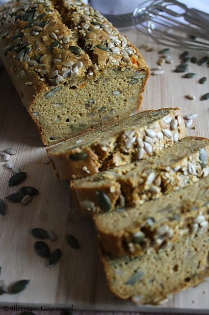 cake carottes aux graines sans gluten sans lait sans oeufs
