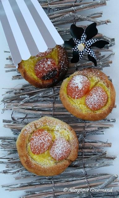 Brioches façon tartes aux abricots
