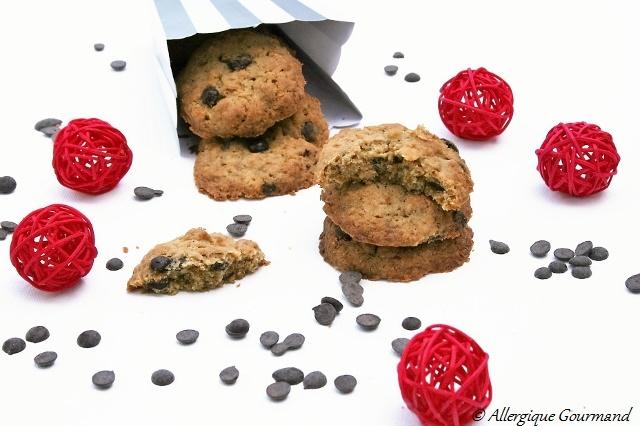 cookies corn flakes pépites de chocolat sans gluten sans oeufs