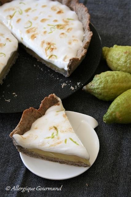 tarte au citron meringuée sans gluten sans lait sans oeufs