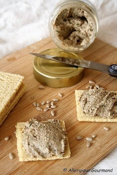 terrine de champignons sans gluten sans lait sans œufs