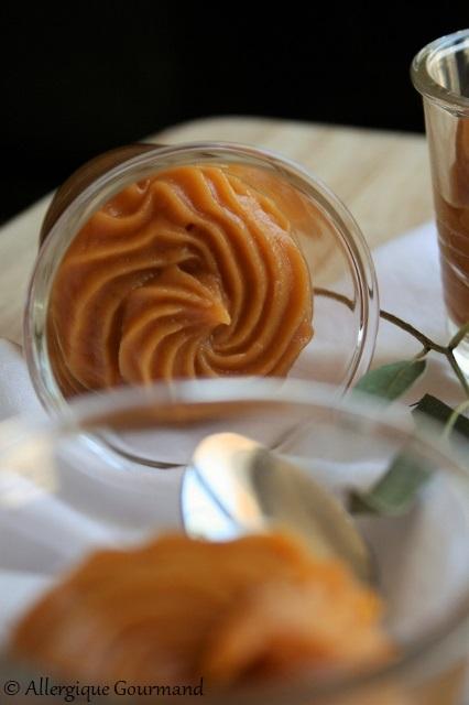 crème de patates douces au caramel sans gluten sans  lait sans œufs