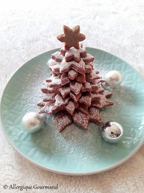 apin de Noël en sablés sans gluten sans lait sans œufs