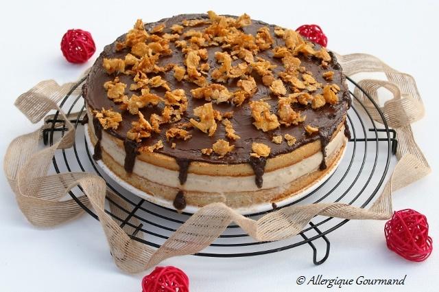 Gâteau à la mousse de spéculoos sans gluten ni oeufs