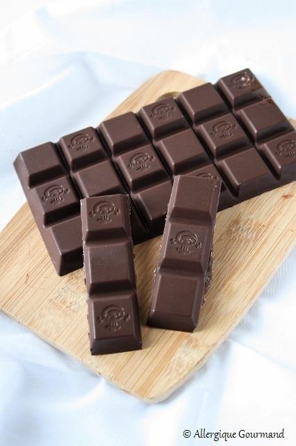 chocolat cru à la noix de coco sans gluten sans lait sans oeufs