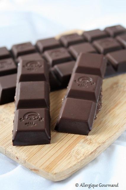 chocolat crue à la noix de coco sans gluten sans lait sans œufs