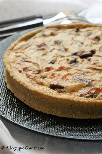 tarte pesto champignons ricotta sans gluten sans oeufs