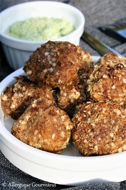 boulettes de quinoa lentillons sans gluten sans lait sans oeufs