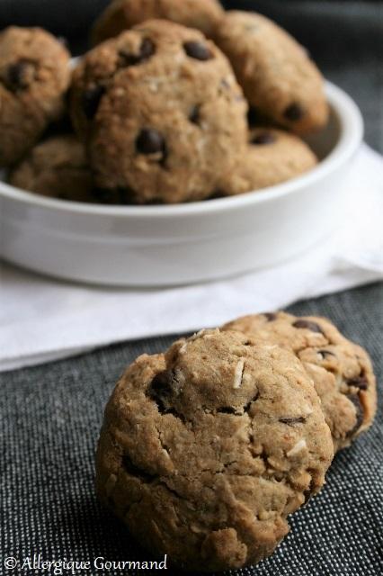 cookies coco-chocolat sans gluten sans lait sans oeufs