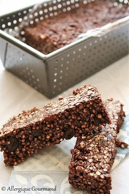 barres chocolatées aux céréales sans gluten sans lait sans oeufs