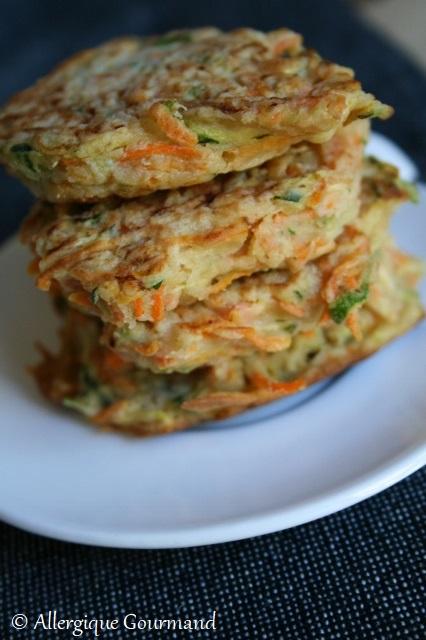 galettes courgettes carottes sans gluten sans lait sans oeufs