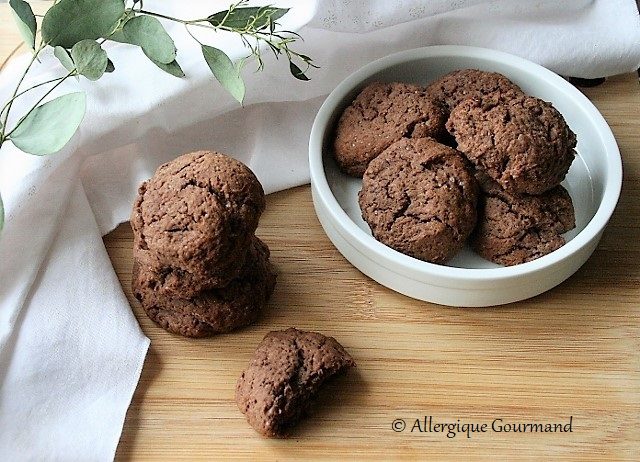 Cookies banane cacao sans gluten lait oeufs