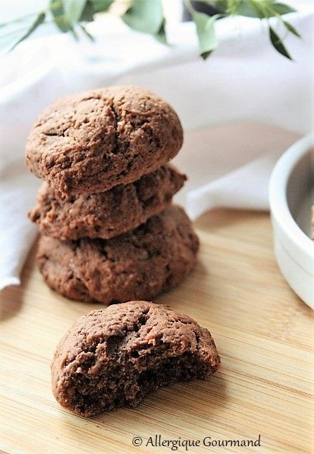 Cookies banane cacao sans œufs sans gluten sans lait