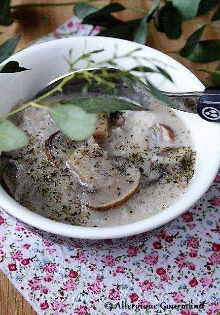 Soupe asiatique sans gluten sans lait sans œufs
