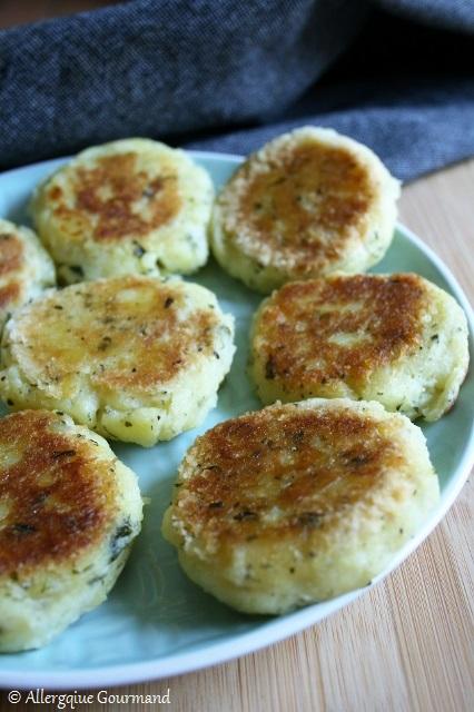 Croquettes de pommes de terre aux herbes aromatiques sans gluten sans lait sans œufs