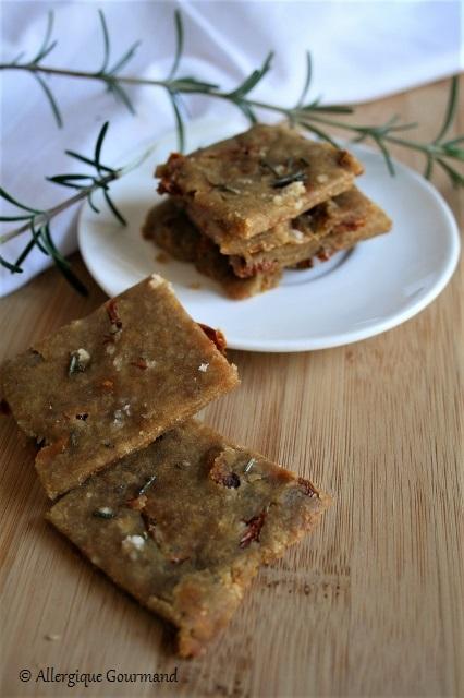 Crackers aux tomates séchées sans gluten sans lait sans oeufs