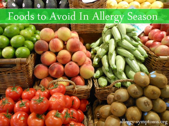 foods to avoid during seasonal allergy