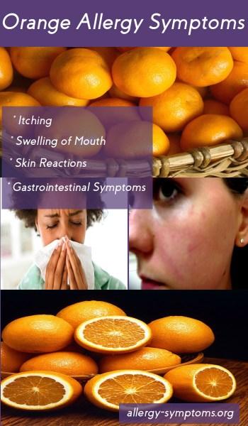 orange allergy symptoms