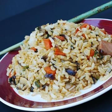 gluten free ham fried rice