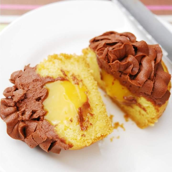 Gluten Free Vegan Boston Cream Pie Cupcakes (Top 8 Free Too!)
