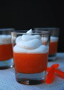 Double Apricot Jello with Whipped Coconut Cream (GF, DF, Egg, Soy, Peanut/Tree nut Free, Top 8 Free) Recipe by Allergy Awesomeness