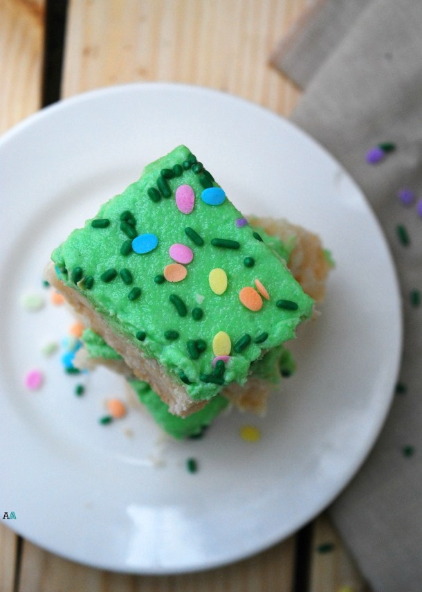 dairy-free sugar cookie bars