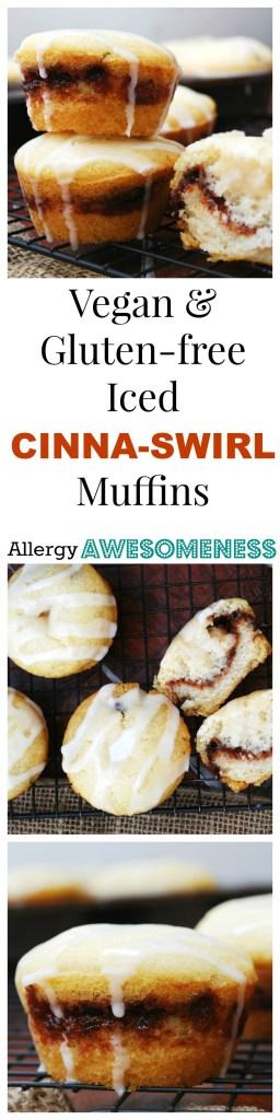Vegan Gluten-free Cinna-Swirl Muffin. Breakfast recipe by AllergyAwesomeness.com
