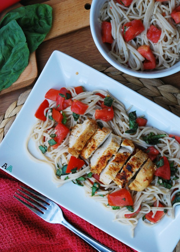 Bruschetta Chicken & Pasta (GF, DF, Egg, Soy, Peanut, Tree nut Free, Top 8 Free) Recipe by Allergy Awesomeness