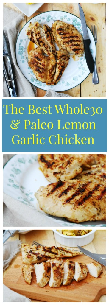 The Best Whole30 & Paleo Lemon Grilled Chicken Dinner Recipe by AllergyAwesomeness.com