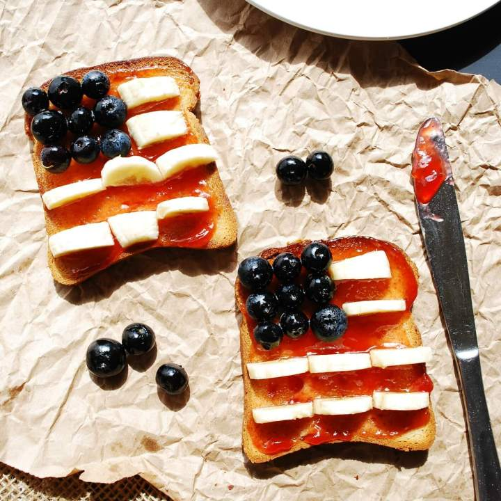 Patriotic Toast (Gluten, Dairy, Egg, Soy, Peanut, Tree nut Free, Vegan, Top 8 Free)