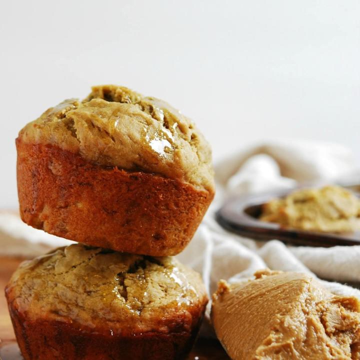 Sunbutter, Honey & Banana Muffins (GF, DF, Egg, Soy, Peanut, Tree nut Free, Top 8 Free, Refined Sugar Free, Vegan)