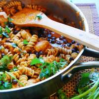 Chicken Enchilada Pasta (Gluten, dairy, egg, soy, peanut and tree nut free; top 8 free)