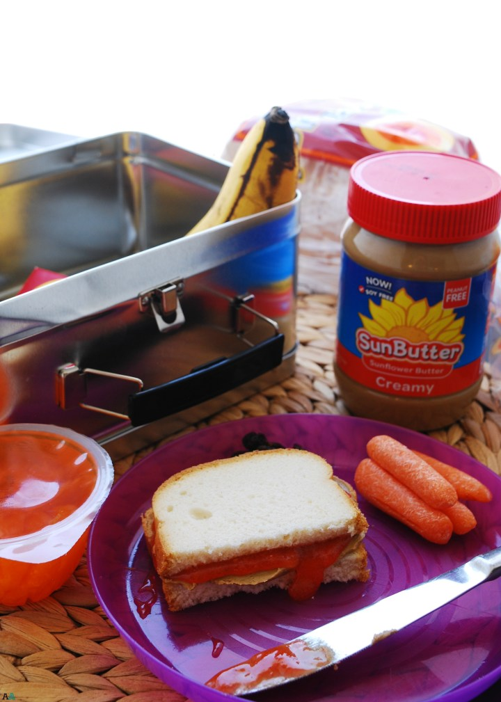 "Allergy-Friendly ""PB&J"" (Gluten, dairy, egg, soy, peanut & tree nut free; top 8 free; vegan) School lunch recipe by AllergyAwesomeness.com"