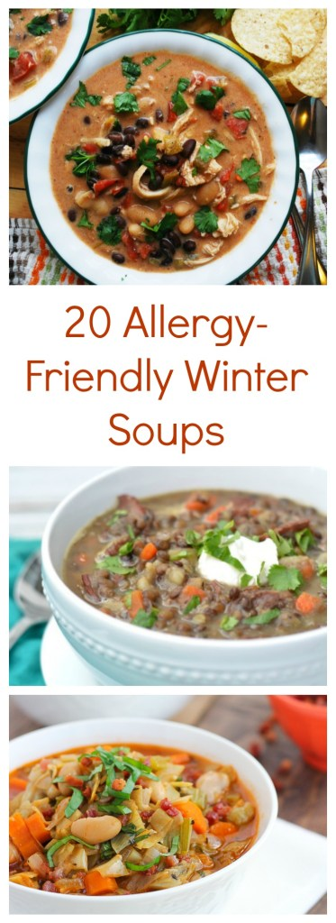 20 Allergy-Friendly Winter Soups by AllergyAwesomeness.com