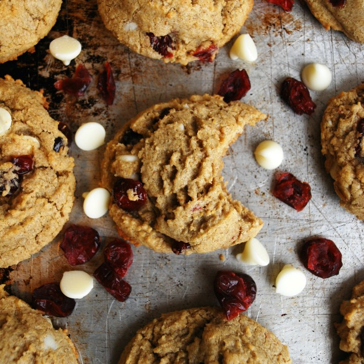 Gluten & Dairy-free White Chocolate Craisin Cookies (Gluten, dairy, soy, peanut & tree nut free)